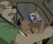 【悲報】元太、アガサ博士の車でポテチを食い炎上する