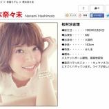 『【乃木坂46】『CanCam』橋本奈々未のプロフィールが間違っている件・・・』の画像