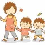 『【クリップアート】お散歩する先生と園児のイラスト』の画像