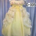 小花とリボンのふわふわ子供ドレス イエロー(3歳)SOLD-OUT