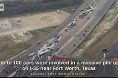 【動画】アメリカ、路面凍結でとんでもない多重事故を起こす 事故ったところに次々と突っ込む