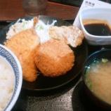 『吉野家のミックスメンチカツ定食を賞味【株主優待】』の画像