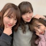 HKT48卒業発表の指原莉乃が宮脇咲良・矢吹奈子と3ショット