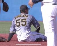 【阪神】陽川が負傷交代 右膝に打球当たる、ここまで打撃好調も…