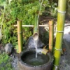 鹿威し!素人ながら作ってみました。竹の音色が癒されます。