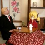 【画像】トランプ大統領「ほう...これが日本の和室かね」日本のこたつを体験…?