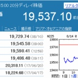 『大して下げなかった日本市場。トランプ大統領は来日延期を検討』の画像