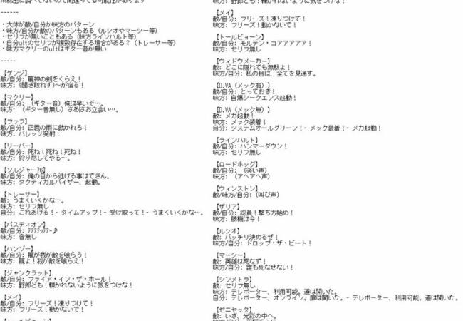 【オーバーウォッチ】ULTセリフ集