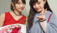 乃木坂46中田花奈がAKB48永尾まりや卒業コンサートを観覧
