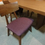 『【北欧テイスト・日進木工の家具2012】ワイドが2300ミリのブラックウォールナットテーブルにLDチェア・MLC-364をセット』の画像