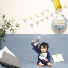 1歳のお誕生日ケーキ~さつまいもクリームとバナナパンケーキ~