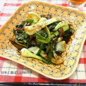 お野菜だけでも十分!チンゲン菜と茄子の甘味噌炒め