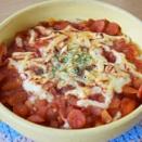 あり合わせのソーセージと玉ねぎで作るトマトソースドリア