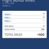 『特典航空券で500マイルもらう』の画像