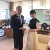 【NGT48】本間日陽が新潟県村上市の市長にサステナブルCDをお渡ししてるんだが・・・