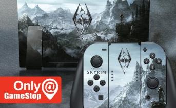 Gamestop 購入特典 ニンテンドースイッチ用のスカイリムスキン
