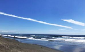 千葉の海岸でサーフィンデビュー