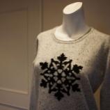 『identity323  Snow Crystal Intarsia カシミヤセーター』の画像