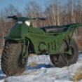 【バイク】バラして車載できオフロードもへっちゃら。ロシアの極太2輪駆動バイク「TARUS」が欧米輸出開始