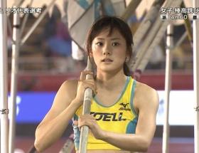 【画像】棒高跳びの今野美穂選手がめちゃシコ