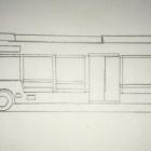 『【架空鉄道】NUCRの次世代路線バスの下絵。』の画像