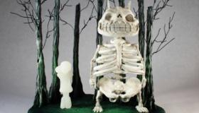 【創作】 スタジオジブリのトトロを 骨だけで作ってみた。 なんでこんなものを作るんだよ!   海外の反応