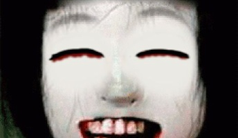 怖い画像、目閉じて笑わせたら怖くない説