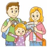『【クリップアート】欧米人・アジア人・日本に観光に来た外国人の家族のイラスト』の画像
