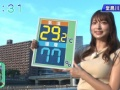 【悲報】汗だくで天気を伝えるお天気お姉さんがえちえちwwwww(画像あり)
