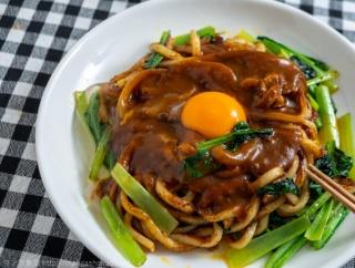 「めしばな刑事タチバナ」(坂戸佐兵衛/旅井とり)の炒めカレースパゲティ風の何か