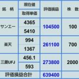 『【12月31日 持ち株評価損益】』の画像