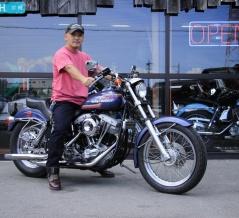 初めての大型バイクがショベルです。
