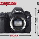 『Canon 680gの廉価フルサイズ EOS 6Dを発表 12月より発売』の画像