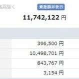 『【運用状況】8月末資産額は1174万円でした』の画像