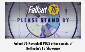Bethesda「E3ショーケースでは Fallout 76 の他にもシークレットがあるよ!」