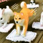 「雑巾がけ」する動物たちがフィギュアになってガチャに登場!「ぞうきんがけ当番」