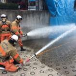 『本日、戸田市内3カ所の消防署で消防団訓練が行われました』の画像