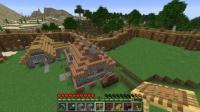 ピラミッド区の小島に小さな民家を作る