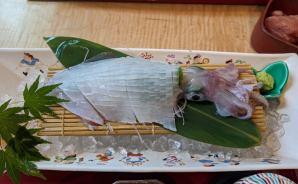 イカの生け造りを食べてきた