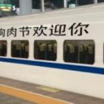 【中国】高速鉄道車体に「ようこそ犬肉祭へ」の文字!ネットデマ拡散で物議 [海外]