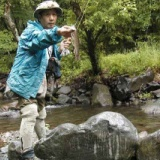 釣りの師匠、清里「モスバック」マスター林さんの釣り写真のサムネイル