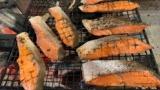 ぼくニート、庭で鮭焼いてる��(※画像あり)