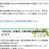 『台風第19号による被害状況および戸田市の対応状況<概要>(戸田市議会全員協議会メモ)』の画像