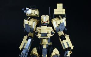 レゴで作った 砂漠戦仕様のロボット