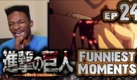 【アニメ】   黒人が 進撃の巨人 第24話を見た時の リアクション動画と感想  海外の反応