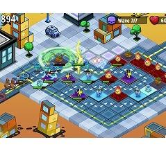 タワー配置で防衛ゲーム The Shiny Ones