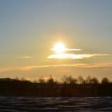 『函館市桔梗町 1月5日の朝日』の画像