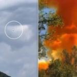 【動画】中国、ロケット打ち上げ成功も、恒例の残骸落下でオレンジ色の毒煙が上がる