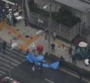 歩道に重機(ショベルカー)突っ込み5人はねられる 重体の女児1人死亡 聴覚支援学校の児童と教員/生野