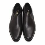 『誂靴 | JOE WORKS JOE-0 ホールカットレイジーマン ハッチグレイン アシンメトリー BLK』の画像